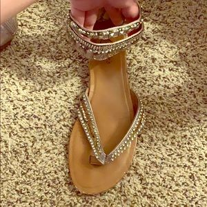 Strappy ankle sandals